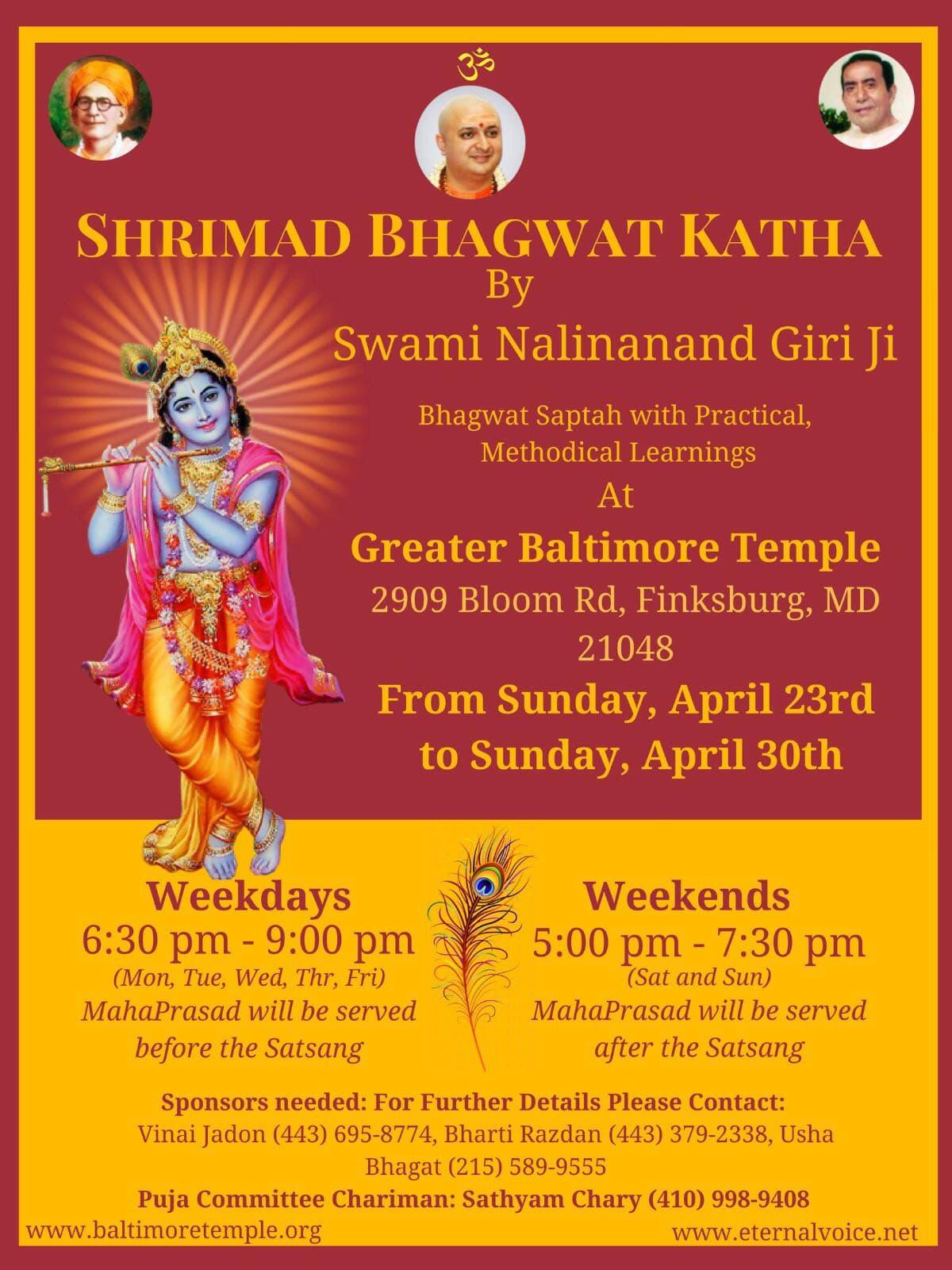 Eternal voice shrimad bhagwat katha from apr 23 apr 30 stopboris Gallery